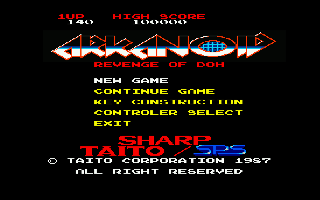 Screenshot Thumbnail / Media File 1 for Arkanoid Revenge of Doh (1987)(Sharp - SPS)[a]
